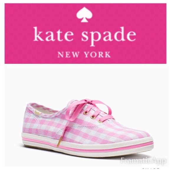 d4dc0202146 🔥SALE🔥🆕♤️Kate Spade NY Champion Gingham Keds💞